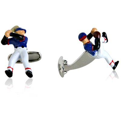 Cracked Pepper Baseball Pitcher and Batter Cufflinks