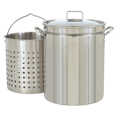 Bayou Classic Stainless Steel Stockpot with Boil Basket
