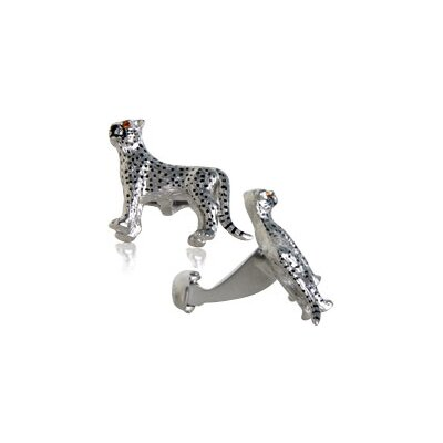 Safari Cufflinks Cheetah Cufflinks with Swarovski Eyes (Set of 2)