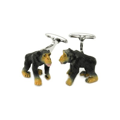 Safari Cufflinks Monkey Cufflinks Hand Painted