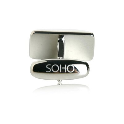 Soho Austrian Crystal Cufflinks in Gray