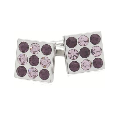Soho Crystal Bingo Board Cufflinks in Amethyst (Set of 2)