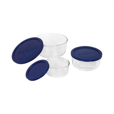 Storage Plus 6 Piece Round Dish Set