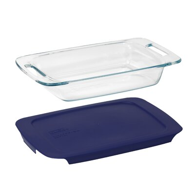 Pyrex Easy Grab 2 Qt. Oblong Baking Dish with Plastic Cover