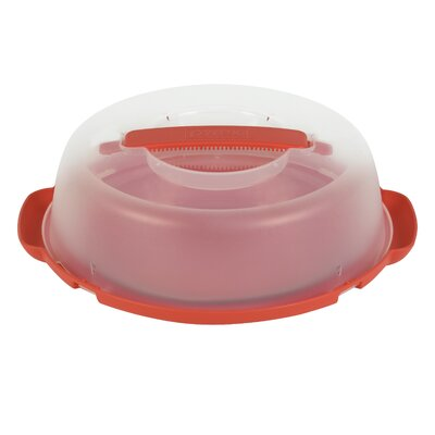 Portable Pie Plate with Plastic Cover and Base