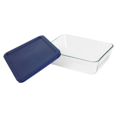 Storage 6-Cup Rectangular Dish with Plastic Cover