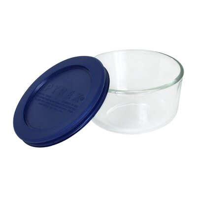 Storage 1-Cup Round Dish with Plastic Cover