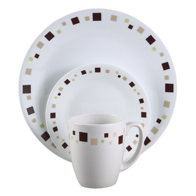 Livingware Geometric 16 Piece Dinnerware Set