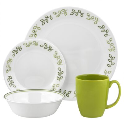 Corelle Livingware Neo Leaf 16 Piece Dinnerware Set