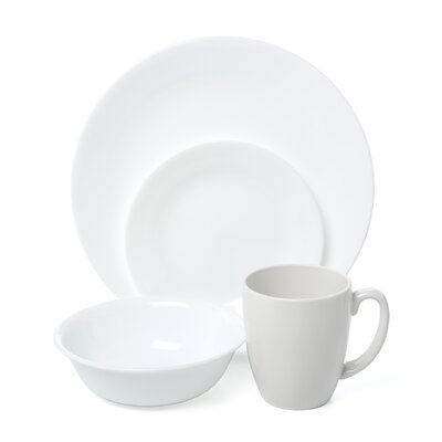Livingware Winter Frost White 16 Piece Dinnerware Set