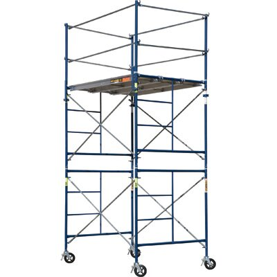 Metaltech Contractor Series Complete 2-Section High Rolling Tower Scaffolding System