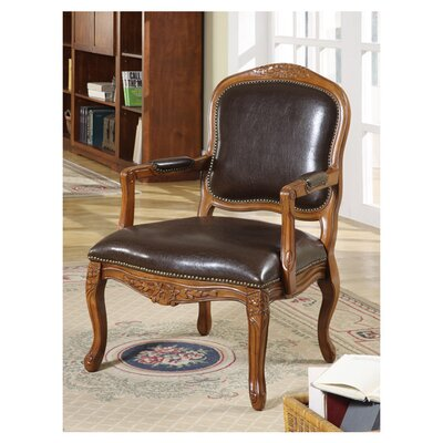 <strong>Williams Import Co.</strong> Napoleon Bicast Leather Arm Chair