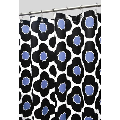 Prints Polyester Mod Floral Shower Curtain