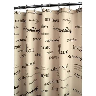 Watershed Resort Shower Curtain in Stone / Chocolate