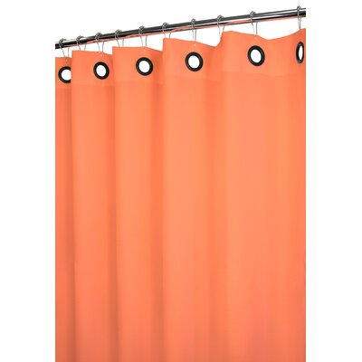 Watershed Dorset Solid Large Grommet Shower Curtain in Tangerine