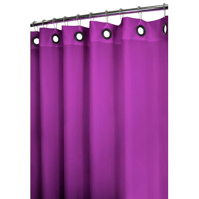 Dorset Polyester Solid Large Grommet Shower Curtain