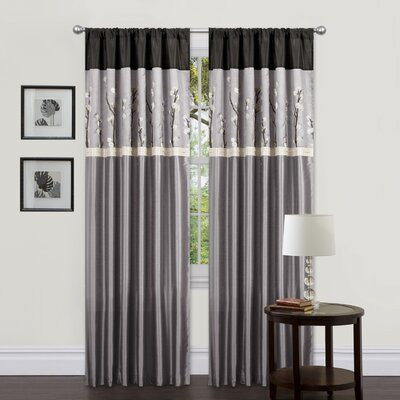 Special Edition by Lush Decor Cocoa Blossom Rod Pocket Curtain Panel  (Set of 2)