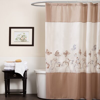 Special Edition by Lush Decor Butterfly Dreams Polyester Shower Curtain
