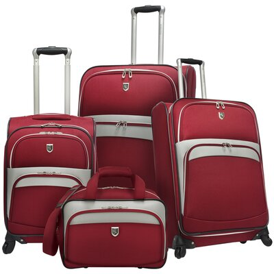 Expandable 4 Piece Spinner Luggage Set