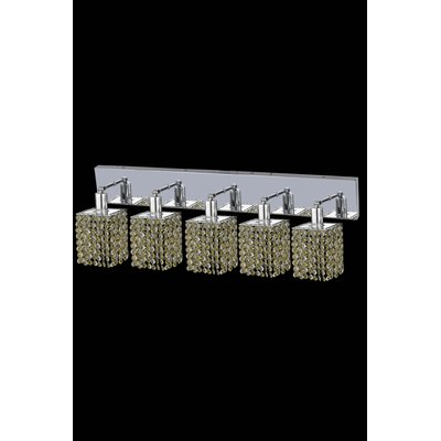 Elegant Lighting Mini 5 Light Square Wall Sconce with Oblong Canopy