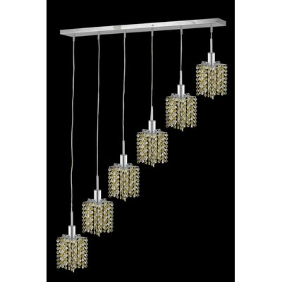 Elegant Lighting Mini 6 Light Linear Pendant