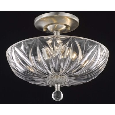 Elegant Lighting Ornate 3 Light Ceiling / Semi Flush Mount