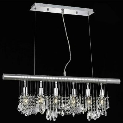 Elegant Lighting Chorus Line 6 Light Chandelier