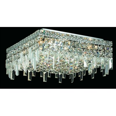Elegant Lighting Maxim 6 Light Semi Flush Mount