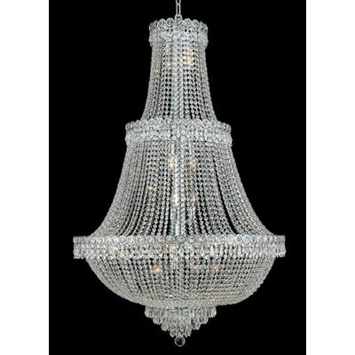 Elegant Lighting Century 17 Light  Chandelier with Crystal