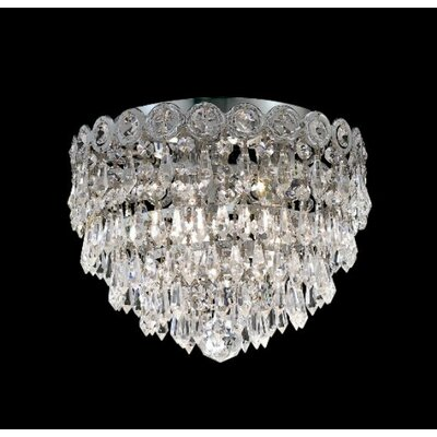 Elegant Lighting Century 3 Light Flush Mount
