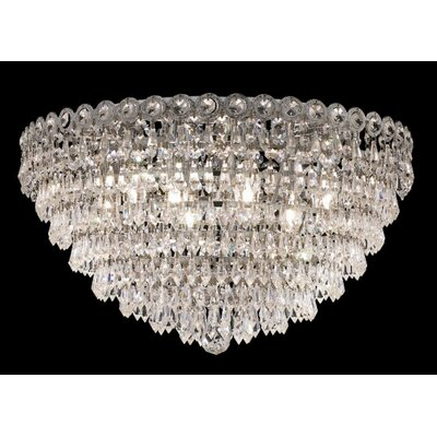 Elegant Lighting Century 9 Light Flush Mount