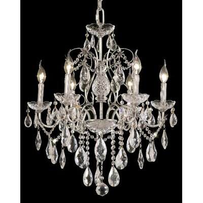 St. Francis 6 Light Oval Drops Chandelier