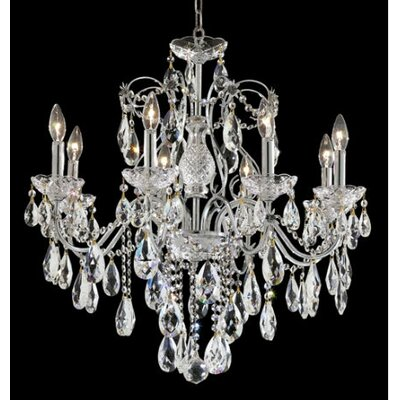 St. Francis 8 Light Oval Drops Chandelier