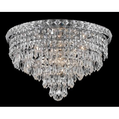 Elegant Lighting Tranquil 6 Light Semi Flush Mount