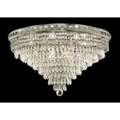 Elegant Lighting Tranquil 12 Light Semi Flush Mount