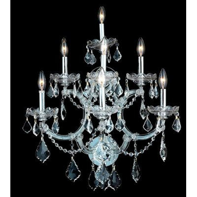 Elegant Lighting Maria Theresa 7 Light Wall Sconce