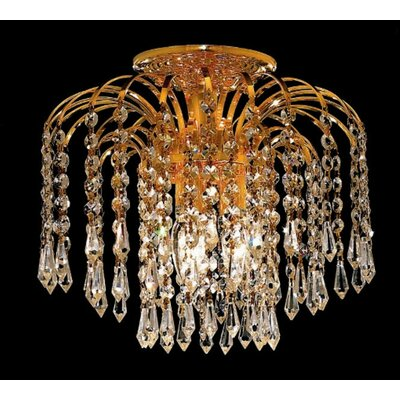 Elegant Lighting Falls 3 Light Semi Flush Mount