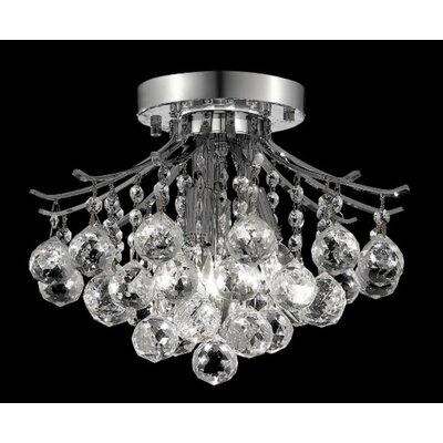 Elegant Lighting Toureg 3 Light Semi Flush Mount