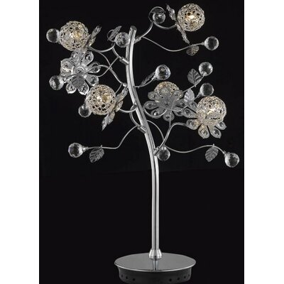 Elegant Lighting Iris 6 Light Plant Table Lamp