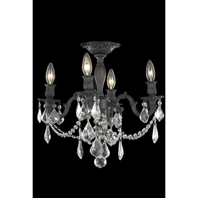 Elegant Lighting Rosalia 4 Light Chandelier