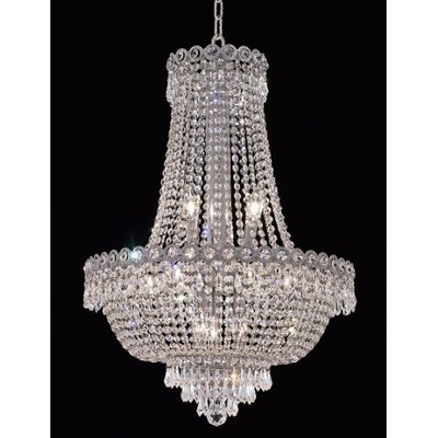Elegant Lighting Century 12 Light Chandelier with Crystal