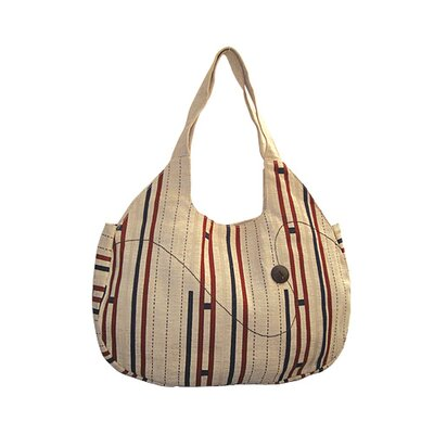 Natural Escalade Cotton Hobo Tote Bag