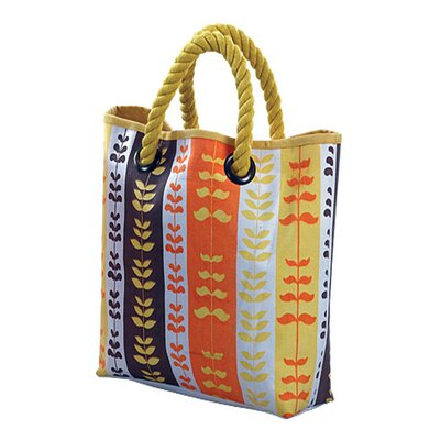 Jute Farm Natural Heartbeat Tote Bag