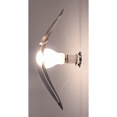 Absolut Lighting Wall Light with Stainless Steel Lampshade