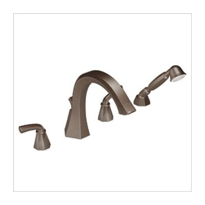 Showhouse by Moen Felicity Roman Tub Faucet with Built-in Hand Shower Diverter in Oil Rubbed Bronze