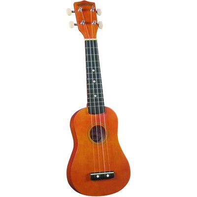 Diamond Head Soprano Ukulele with Natural Match Case