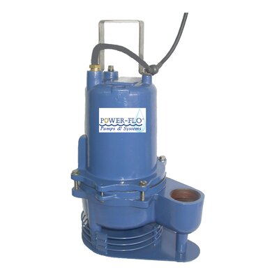 Power-Flo 4/10 HP Sewage Submersible Pump with High Temperature and 10 Amps Manual Operation