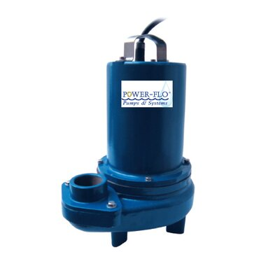 "Power-Flo Sewage 2"" Submersible Pump 1/2 HP 3.1/3.0 Amps - Manual Operation"