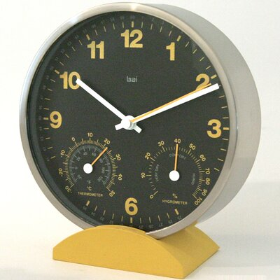 "Bai Design 6"" Convertible Weather Station Wall Clock"