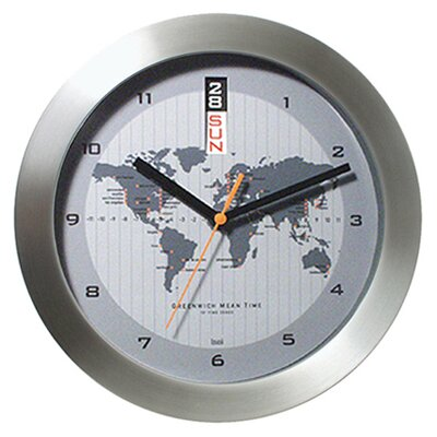 Bai Design GMT Wall Clock with World Map